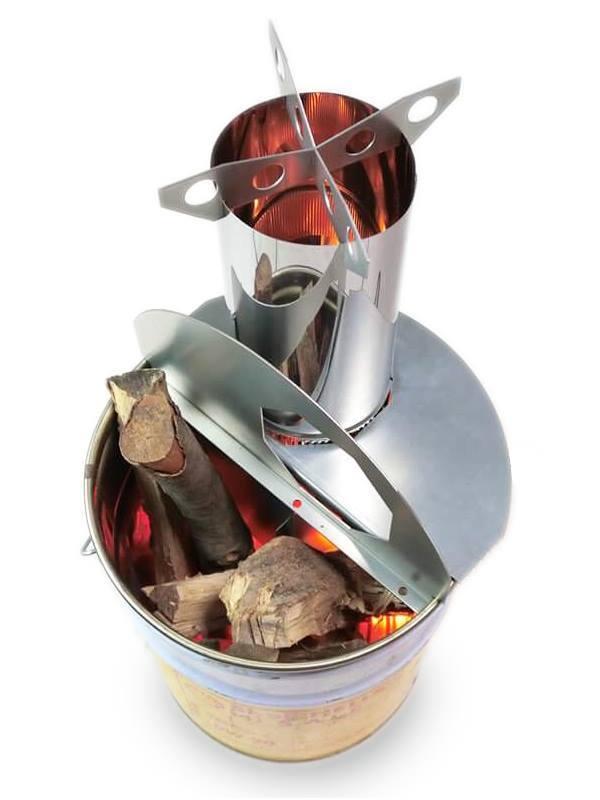 ロケットストーブ「焚火缶」